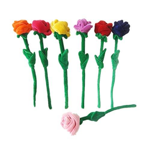 Chlyuan-hm Baby Soft Toy Vorhang Schnalle Kinder simuliert pflanzenspielzeug niedlichen plüsch Sonne Blume Rose Blume bündel Blume Hochzeit werfen für Junge Mädchen (Farbe : Mehrfarbig, Größe : 30cm)