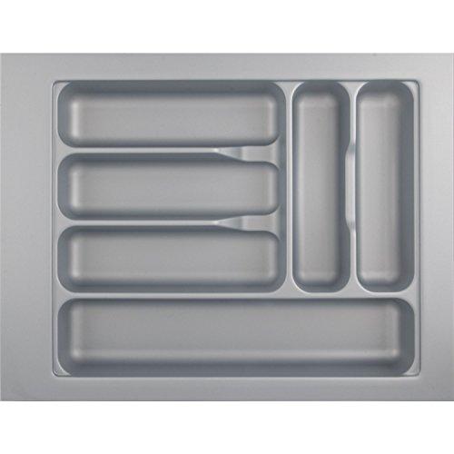 Hettich 9194934 Besteckkasten Box Atira Orga Tray 440 Silbergrau, Maße (mm): L520xB400xH55, Besteckeinsatz variabel für Schubladen Organizer in der Küche