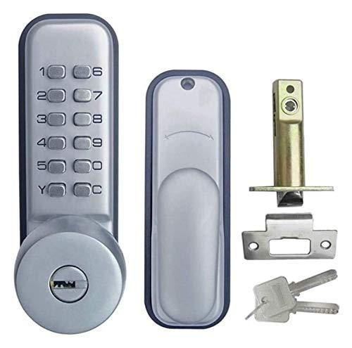 ZJSXIA Supplies Keypad Mechanical Combination Door Handle Lock with Keys Digital Locks for Office Bedroom drawer knobs