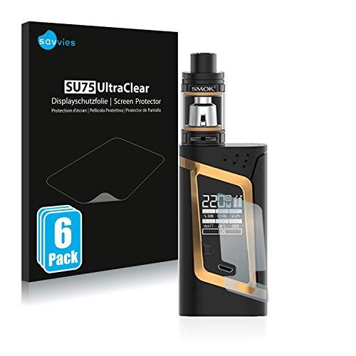 savvies 6-Pezzi Pellicola Protettiva Compatibile con Smok Alien 220W Protezione Schermo Trasparente