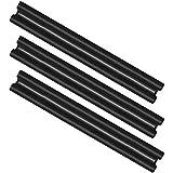 com-four® 3X Zugluftstopper für die Tür - Mikrofaser Türbodendichtung -