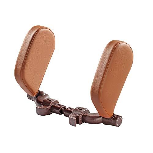 MIMI KING Auto-Sitz U-förmige Kopfstütze Kissen, Memory Foam Nackenkissen für Kinder, Erwachsene und Passagiere, beidseitig verstellbar, komfortabel und leicht zu reinigen,Braun