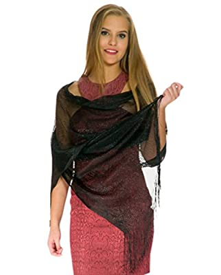 Shawls and Wraps - Sheer Bridal Womens Scarves - Scarfs for Women with Fringe
