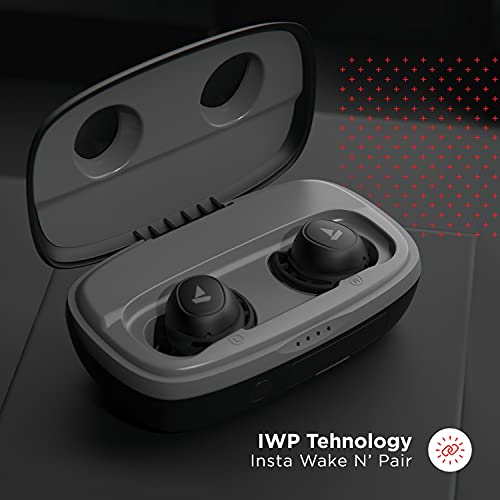 boAt Airdopes 441 Pro TWS Ear-Buds with IWP Technology, Up to 150H Playback with Case, Power Bank Function, IPX7 Water Resistance, Super Touch Controls, Secure Sports Fit & Type-C Port(Active Black)