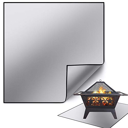 Square Fire Pit Mat for 18-40 Inch Round, Rectangular Fire Pit,Ember Mat for fire pits Outdoor Wood...