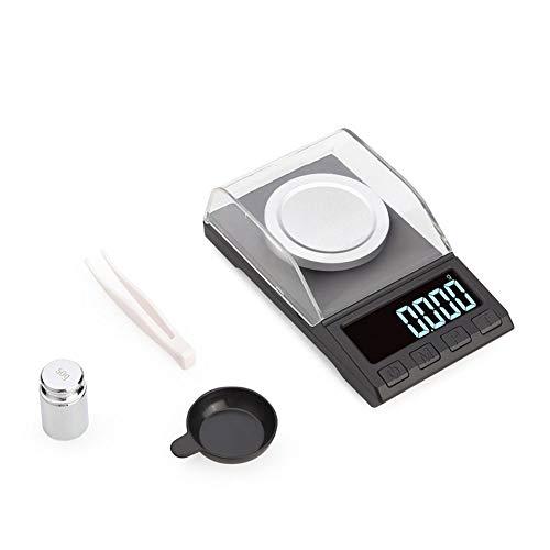 YZSHOUSE 0.001g Alta Precisión Escalas De La Joyería, Laboratorio Polvo Escala Electrónica, Carga USB Y Fácil De Operar (Size : 100g/0.001g)