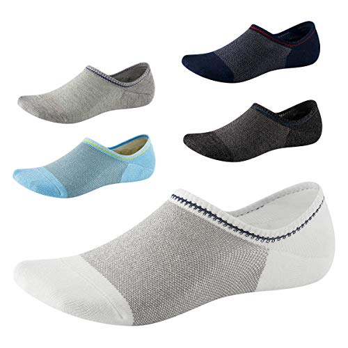 No Show Socks for Men-Low Cut with Non Slip Grip-Invisible Socks for Boat Shoes Oxfords Loafers...
