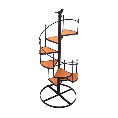 ZYLE Soporte de Flor de Escritorio de Hierro Forjado, Soporte de decoración de Estante de exhibición de Planta de Escalera Espiral de 8 Niveles 57cm (H)