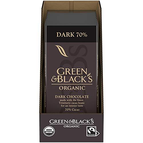 Green amp Black Organic Dark Chocolate Bar 70% Cacao Easter Chocolate 10  317 oz Bars