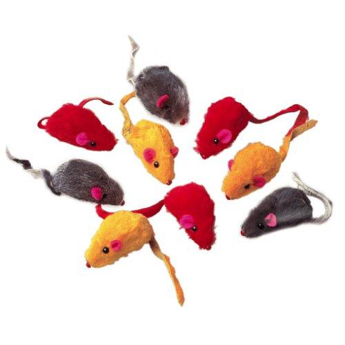 Karlie 46018 Mäuse in Felloptik L: 5 cm B: 3 cm H: 3 cm farblich sortiert