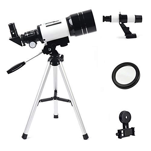 Huaatiear Telescopische telescopische astronomie 70/400 verrekijker met smartphone-adapter statief maanfilter barlow voor observatie van hemel en landschap, cadeau voor kinderen