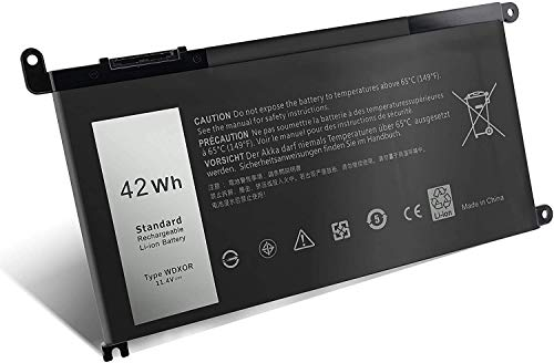 [Type WDX0R] Laptop Battery for Dell Inspiron 13 5368 5378 7368 7378, Inspiron 15 5568 5578 7560 7570, Inspiron 17 5765 5767 Laprop Notebook PC [3 CelL 11.4V 42Wh]