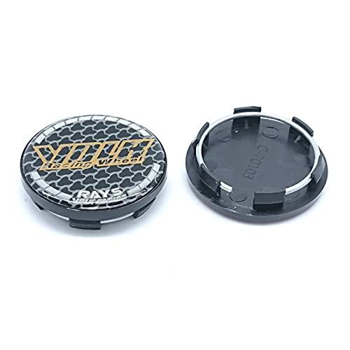 TTXS 4 tapacubos centrales de ruedas de 50 mm, tapacubos para llantas de coche, color amarillo
