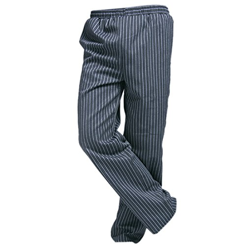 Freahap Baggy Chef Pants Stripe for Men Women L