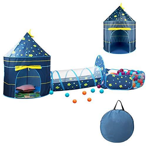 CestMall Tende da Gioco, 3 in 1 Tenda da Gioco per Bambini con Tenda da casa Tunnel di Palline da Piscina, Tenda Pop-up per Bambini Tenda da Palazzo Tenda da Gioco con Borsa per Il Trasporto