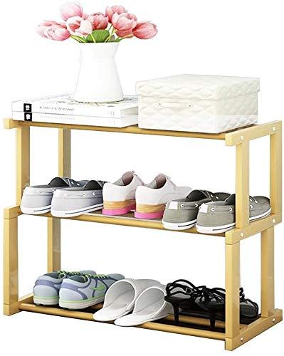 XWZH Zapatero a prueba de polvo, organizador de madera para zapatos, ideal para pasillo, baño, sala de estar, dormitorio y pasillo (color: color de madera, tamaño: 4 niveles)