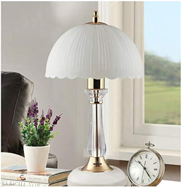 CONGCONG Weie Tischlampe, europisches Schlafzimmer-Wohnzimmer, Hauptkristalllampe 25  25  44CM