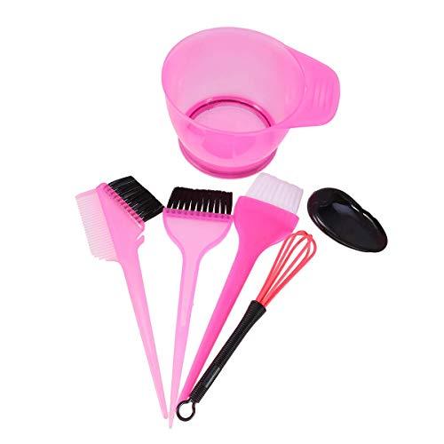 BETOY Haare Färben Set 10 pcs Professionell Färbeschale Haarfärbepinsel Haare Färben Zubehör (Rosig)