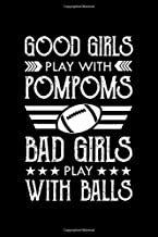 Notebook: Womens Football Lover Gift Bad Girls Play With Balls Black Lined College Ruled Journal - Writing Diary 120 Pages