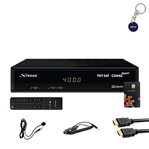 professionnel comparateur Kit récepteur HD robuste SRT7404 + carte TNTSAT Viaccess + câble HDMi + câble 12V + télécommande IR choix