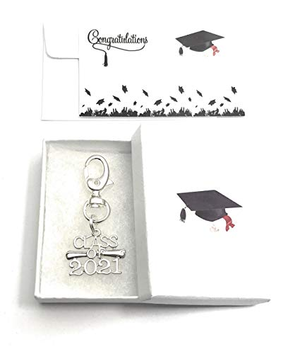 Libby's Market Place Class of 2021 Graduation Keyring with Gift Box and Graduation Gift Card