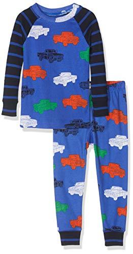 Hatley Jungen Organic Cotton Long Sleeve Printed Pyjama Sets Zweiteiliger Schlafanzug, Blau (Classic Pickup Trucks 400), 6 Jahre (Herstellergröße: 6)