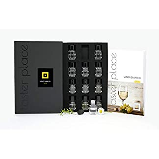 Tasterplace-Weissweinaromen-Italienisch-Sommelier-Kit-Weissweinaromen-Geruchstraining-12-Essenzen-Geschmackswerkzeug