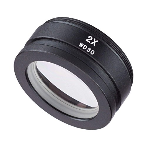 SM20 2.0X Barlow Lens Assisted Auxiliary Len for Stereo Zoom Microscope Assisted Objects Lens Auxiliary