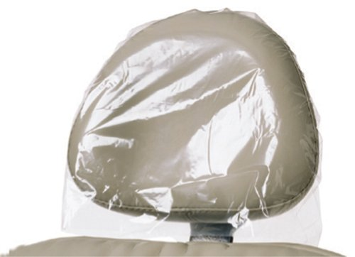 Clear Plastic Headrest Covers for Dental Chairs - 14