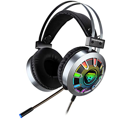 Kopfhörer Hybrid Active Geräuschisolierung Gaming-Headset USB + 3,5 mm Over-Ear-Stereo-Gaming-Kopfhörermikrofon Kompatibel mit N-Switch (Farbe)