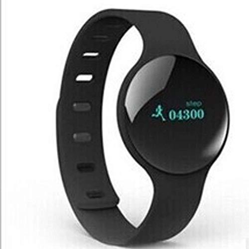Reloj inteligente con Bluetooth, podómetro, seguimiento de la salud y la condición física, monitor de sueño, recordatorio de teléfono, rastreador de fitness para hombre, mujer, niño, color negro