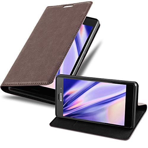 Cadorabo Hülle für Sony Xperia Z3 - Hülle in Kaffee BRAUN – Handyhülle mit Magnetverschluss, Standfunktion & Kartenfach - Case Cover Schutzhülle Etui Tasche Book Klapp Style
