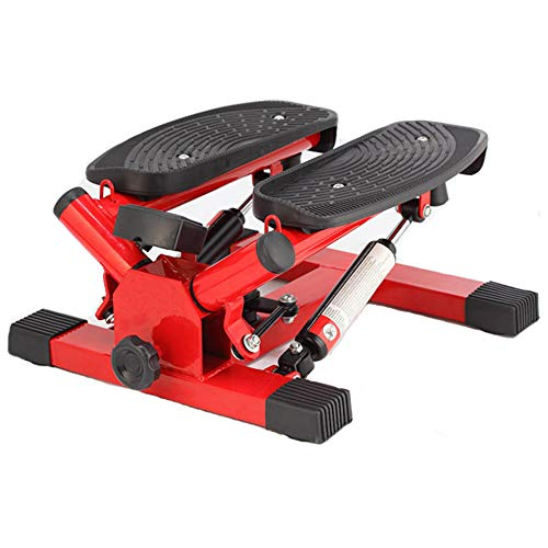 Sale!! Stepper Household Mini Stepper Up-Down Home Trainer Mini Stepper with LED Display Red Black F...