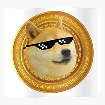 Crypto Snoop Doge Cryptocurrency Elon Musk Bitcoin Dog Dogecoin Wall Art Decoration 16x24 Inches