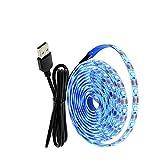 ZZSSC LED Strips Lights 2835 USB LED Strip 1M / 5M 5V Carga Light a Power Bank Inicio Night Light Props Bella de luz Azul para Sala de retroiluminación TV(1m)