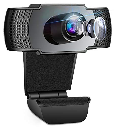 Webcam, Webcams with microphone, PC Webcam, Streaming Computer Web Camera with Support 3D denoising and Automatic Gain, USB Computer webcam for Video Calling, Online Classes and Video Conference