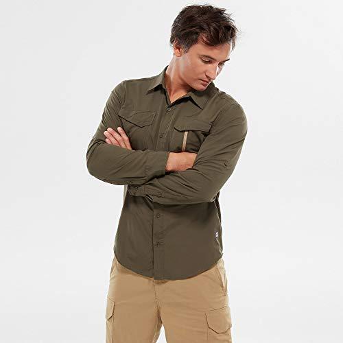 THE NORTH FACE M L/S Sequoia Shirt Grün, Herren Langarm-Hemd, Größe XXL - Farbe New Taupe Green