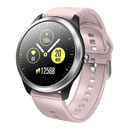 ZHENAO Reloj Elegante F11 Moda, Ecg + Ppg Ritmo Cardíaco Bp Control O2 1.22Inch Gran Pantalla Música de Bluetooth Tiempo de Empuje Ip68 a Prueba de Agua Smartwatch Sé diferente/C
