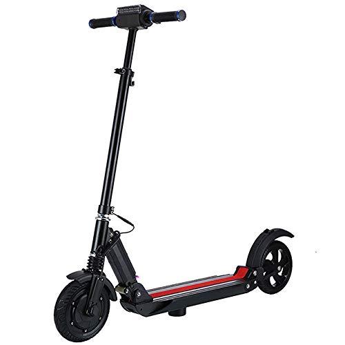 IGCXJ Doppelbremse Elektroroller Elektro Scooter, faltbar mit LED-Licht und Display, 250-W-Motorroller bis zu 25 km/h, Last 265 lb.
