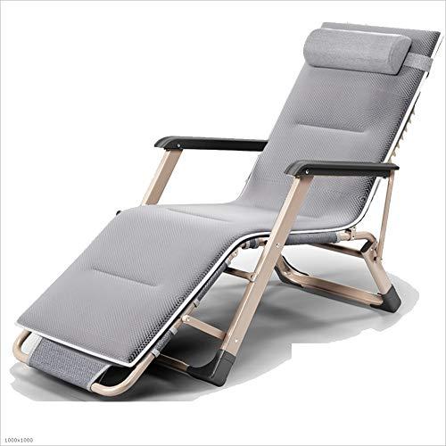 Chaise longue YNN Chaise de Jardin inclinable Plage Soleil Chaise Pliante avec Style Coussin 4 (Couleur : B)