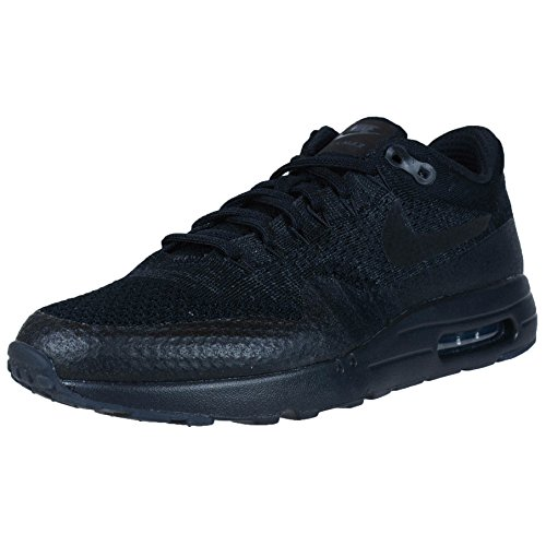 Nike Mens Air Max 1 Ultra Flyknit Triple Black Black/Anthracite Woven Size 10