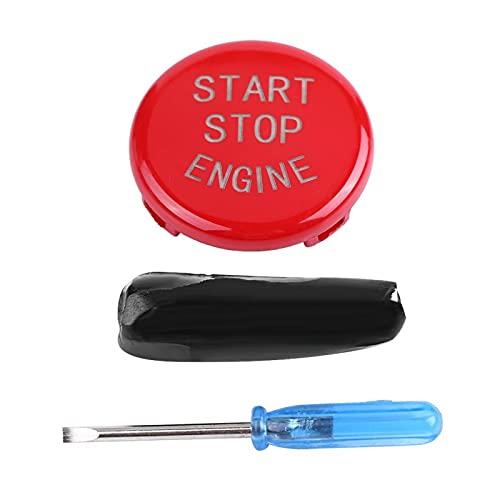 Niiyen Cubierta del Interruptor del Motor del automóvil, Cubierta del botón de Arranque del Motor del automóvil, Cubierta del Interruptor de Encendido del Motor del botón de Inicio (Rojo)