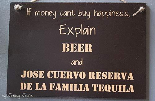 Ced454sy geluk Jose Cuervo Reserva de la Familia Tequila en bier teken