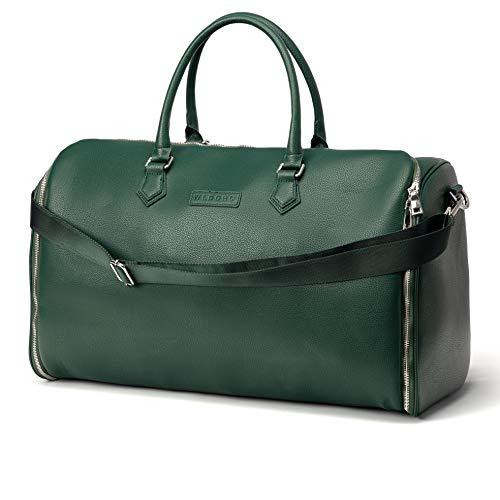 WLDOHO® 2in1 Anzugtasche Reisetasche für Business Reisen und Handgepäck I Kleidertasche für Anzüge mit Schuhfach, Inklusive Tragegurt (Grün)