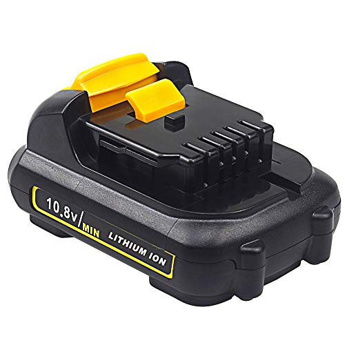 QUPER - Batteria sostitutiva agli ioni di litio 10,8 V 3,0 Ah DCB127 compatibile con Dewalt DCR020-GB XR, DCF815D2, DCF601D2, DCF610, DCE088D1G, DCB105.