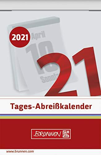BRUNNEN 1070303001 Tages-Abreißkalender Nr. 3, 1 Seite = 1 Tag, 54 x 80 mm, Kalendarium 2021
