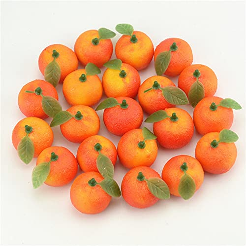 ZYCH 10/20 PCS Artificial Fruit Small Tangerine Orange Simulation Fake Lifelike,for Home Kitchen Party Festival Decoration Photography Bowl Prop Food Ornaments 6.8cm (Size : 20pc)