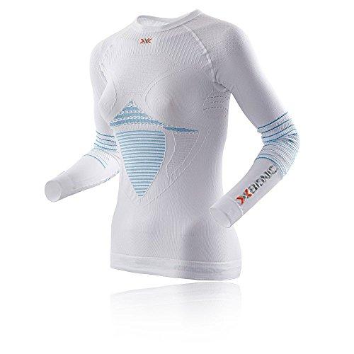 X-Bionic Energizer Lady t-Shirt imperméable pour Adulte mK2 UW LG SL XS Multicolore - Blanc/Turquoise
