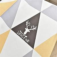 幾何学テーブルクロスポリエステルディナーテーブルカバークリスマスパーティー装飾テーブルクロス(レモン135x220cm / 53x87inch)