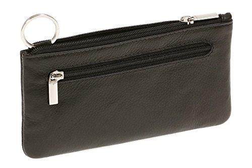 LEAS Schlüsseltasche extra groß Echt-Leder, schwarz Special Edition 15x8x1cm (BxHxT)